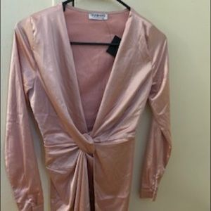 Ladies pink long sleeve dress
